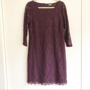 Dana Buchman dark purple lace dress. Size 12